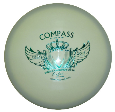 Compass Gold Line white