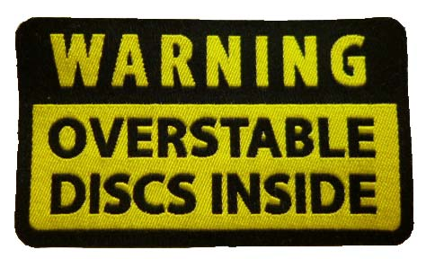 Warning Oberstable Discs inside